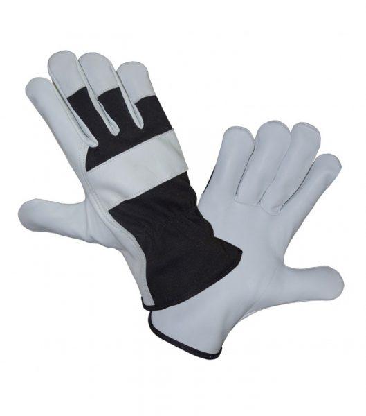 Ocieplane całodłonicowe rękawice ze skóry licowej koziej