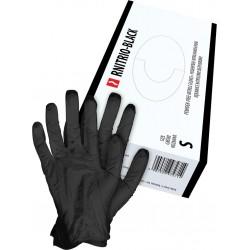 Rękawice nitrylowe w kolorze czarny.