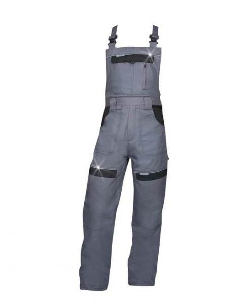 Spodnie ogrodniczki Cool Trend szaro-czarne