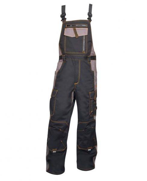 Spodnie ogrodniczki Vision szaro  czarne